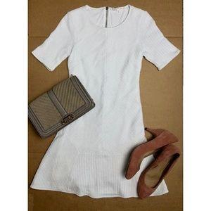 Veronica Beard White Knit Mini Dress